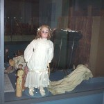 Dolls in display case