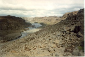 Canyon at Dettifoss