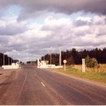 Estonian-Latvian border.