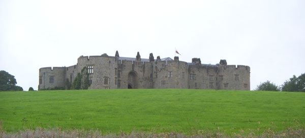 View of castle from below