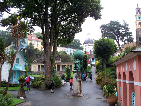 View of  Portmeirion village