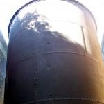 Steel riveted pump funnel
