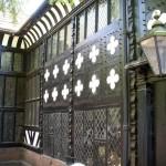 Speke courtyard wall