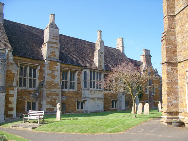 Bede house from churchyard