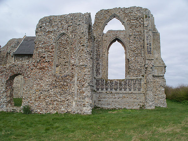 Ruin with flint panels