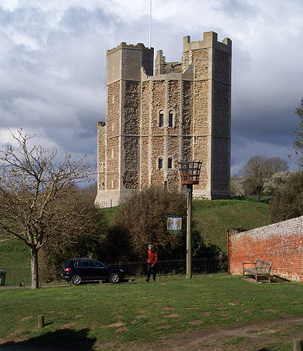 Orford Castle from approach