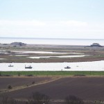 Orford Ness from castle roof