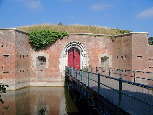Fort entrance with footbridge