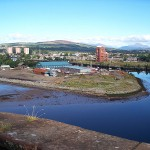 View to NW, River Leven