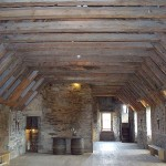 Attic (3rd) floor with exposed beams