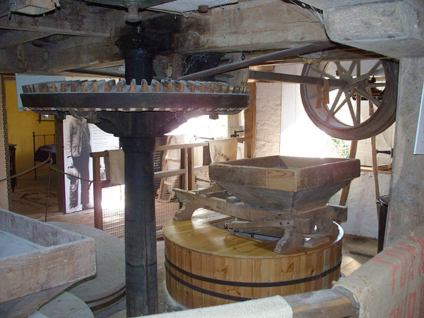 Mill interior, gears