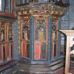 Painted pulpit base