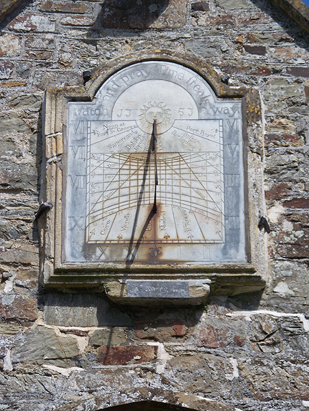 Sundial above door