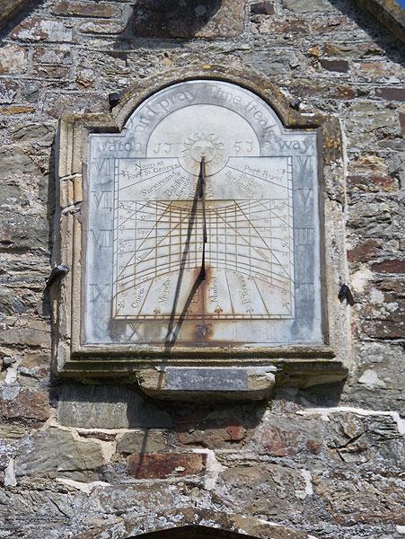 Sundial above door