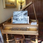 Grand piano in entrance hall