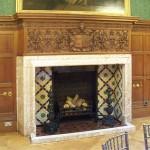 Saloon fireplace