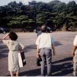Japanese watch motorcade near Imperial Palace